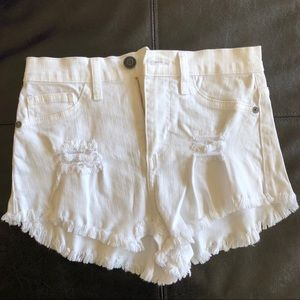 High-Waisted White Shorts size S